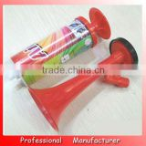 2016 Eco-friendly cheering horn,plastic soccer fan horn,football mini fans horn