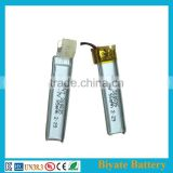 Compatible Price 3.7volt 55mAh rechargeable lithium-polymer cell for Intelligent ecg machine