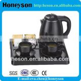 hotel equipment turkish electric tea kettle with welcome tray set/mini electric tea kettle