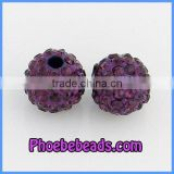 Grape Purple 8mm Crystal Pave Beads Wholesale CPB-D05