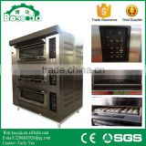 BOSSDA Best Quality and Easy Maintence 3 deck oven 6trays used pizza gas ovens for sale