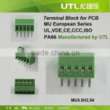 125V 6A 2.54mm Pitch 4-Pin PCB Screw Terminal Block Connector