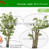 Manufacture 2015 Best quality custom made artificial outdoor ficus tree/decorative artificial banyan tree