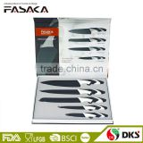 high quality 4PCS KITCHEN KNIVES STAINLESS STEEL SETS WITH TPR HANLE set 5 pieces with paper Gift Box