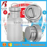 Titanium eco-friendly stainless steel sports thermos infuser water bottle