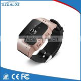 Two way communication ce rohs android smart watch/free server software gps watch tracker