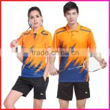Polyester Golf Badminton Wear Sport Shirt for Women Men