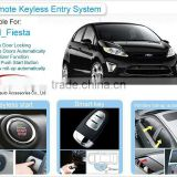 Ford Fiesta PKE Smart Key System With Windows Closer Push Button Start