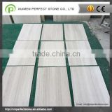 Good Price China White Wooden Vein Marble Tile For Interior Flooring Tile                                                                         Quality Choice