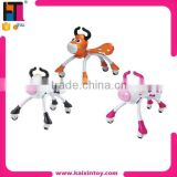 plastic cartoon design swing car baby walker with music