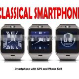 Classical Android Smart Watch 2015 with internal GSM GPS Watch Phone Android wifi Bluetooth Smartwatch with Camera