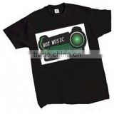 New arrival Music Speakers sound active el t-shirt, flashing tshirts