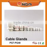 Colors Types Of Connector Strain Relief Nylon Cable Glands PG Size Gland