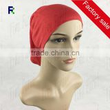 Wholesale New Charming Hijab Tube Turban Hats Arrvial Under Scarf Bonnet Inner Muslim Jersey Caps