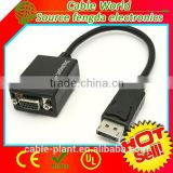 High quality black Mini DVI to VGA Female Adapter for Mac