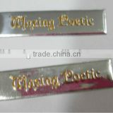 embossed aluminum label, raised up logo soft metal sticker, soft cigar label