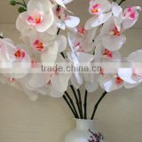 Real touch Artificial flower latex material white orchids 7 heads