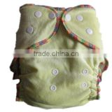 2016 High quality Organic bamboo diaper velour NO PUL WATERPROOF nappies one size Free Shipping