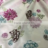 vintage floral print pongee fabric for jacket home textile