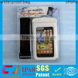promotional excellent quality waterproof nylon lining dry bag for samsung galaxy s2 with ipx8 certificate
