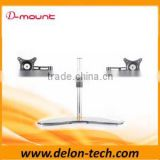 glass aluminum LCD tv table holder double arm monitor desk bracket