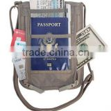 Travel Neck Wallet Boarding Pass Ticket Organizer mobile card holder for Passports (YX-Z143)