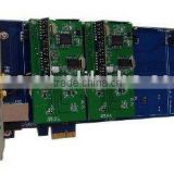 100% good quality+excellent voice+4 port wireless Asterisk PCI card(with PCI Express 1X interface)