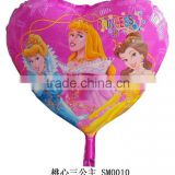 Cinderella Heart Shape Foil Balloon Cinderella Sleeping Beauty Snow White