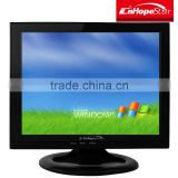 Cheap square screen 14 inch lcd led monitors with vga dvi av tv inputs
