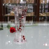 Red Double Heart Crystal Flower Vase,Wholesale Cheap Flower Vases