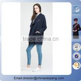 Wholesale latest design ladies trumpet sleeves and Double Breasted Notched Wool Blends With Sash fashion Winter Coat