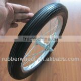 16 inch airless aluminum bicycle wheel pu foam tires
