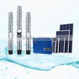 China AC deep well solar water pump,solar powered pump,solar energy submersible water pump China