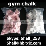 colorful gym chalk for climbing, weight lifting chunky chalk