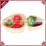S&D Handmade poly rattan washable wicker durable heart shape empty storage basket for fruit vegetables gift and flower