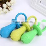 pet toys TPR material pet nipple chew toys with small bell