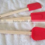 DELUXE WOODEN HANDLE SILICONE 3 PC SPATULA SET