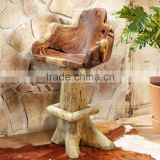 Bar Stool Swivel Root Teak Wood