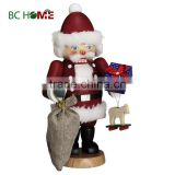 exquisitely crafted santa claus wooden Nutcracker classics red