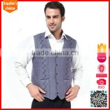 Classic solid male cotton canvas work men sweater vest knitting pattern