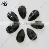 Sew on Stone Acrylic Rhinestone Flat back Tear Drop 17x28mm Black Jet Color