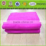 pink solid 100% polyester polar fleece adults tv blanket