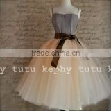 7 Layers Midi Tulle Skirts Womens Fashion TUTU Skirt Elegant Wedding Bridal Bridesmaid Skirt Wedding Lolita petticoat