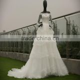 wedding dress long sleeve corset wedding gown sweep train lace beaded ball gown Luxury Dubai wedding dress for bridal