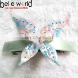 New design fashion butterfly rhinestone acetate hair clips