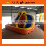 2014 New nflatable Water Slide With Pool, Curve Water Slide With Pool
