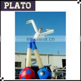 Huge waving air dancer with football legs/ white moving inflatable air dancer for display