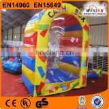 Top quality PVC used inflatable cash cube for sale