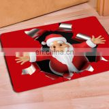 2017 new christmas 3D carpet santa claus door mat for bathroom