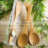 Natural Bamboo Wood Salad Set Favors